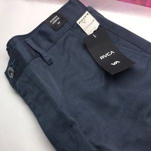"Rvca classic length 20"" 33"" waist gray blue shorts"